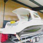 Anfertigung Sonnenschutz kundenindividuell vorher_Manufacturing Sunblind Boat indivdual before