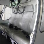 Neuerstellung Interieur Helicopter AS350 - Rücksitzbank vorher