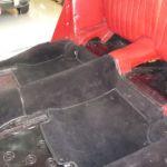 Neuerstellung Teppichsatz BMW 328 vorher_Renewal Carpetkit BMW 328 before