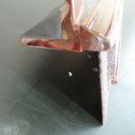 Raytheon Beechjet 400A Reparatur Edelholz Armlehne vorher_Repair Precious Wood Armrest before