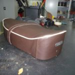 Restauration Vespa Sitzbank nachher_Restoration Vespa Seat after