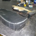 Restauration Vespa Sitzbank vorher_Restoration Vespa Seat before