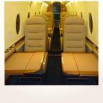 komplette Neuerstellung_Refurbishment King Air 1900 Airliner - Ledereinlagen der Tische nachher