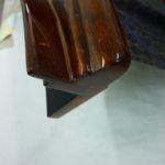 Raytheon Beechjet 400A Reparatur Edelholz Armlehne nachhher_Repair Precious Wood Armrest after