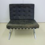 Barcelona Sessel Aufarbeitung & Nachpigmentierung vorher_Reworking & Recoloring before