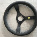 Neubezug Lenkrad individuell Ferrari nachher_ Recover Wheel individual Ferrari after_